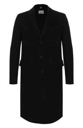 Мужской шерстяное пальто BURBERRY черного цвета, арт. 8019536 | Фото 1
