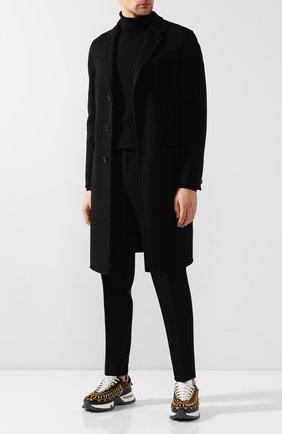 Мужской шерстяное пальто BURBERRY черного цвета, арт. 8019536 | Фото 2