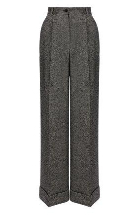 Женские шерстяные брюки DOLCE & GABBANA серого цвета, арт. FTBMPT/FMRAX | Фото 1