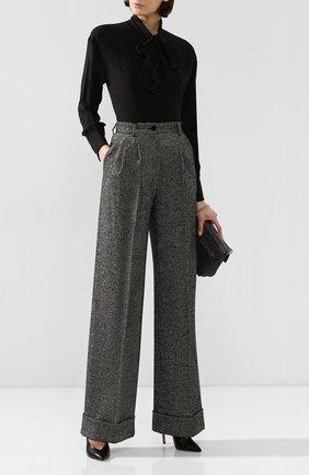 Женские шерстяные брюки DOLCE & GABBANA серого цвета, арт. FTBMPT/FMRAX | Фото 2