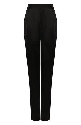 Женские брюки из вискозы SAINT LAURENT черного цвета, арт. 590989/Y145D | Фото 1