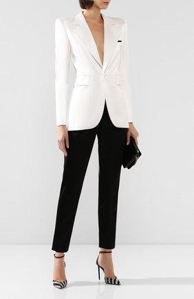 Женские брюки из вискозы SAINT LAURENT черного цвета, арт. 590989/Y145D | Фото 2