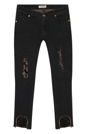 Детские джинсы TWINSET темно-серого цвета, арт. 192GJ2290/12A-16A | Фото 1