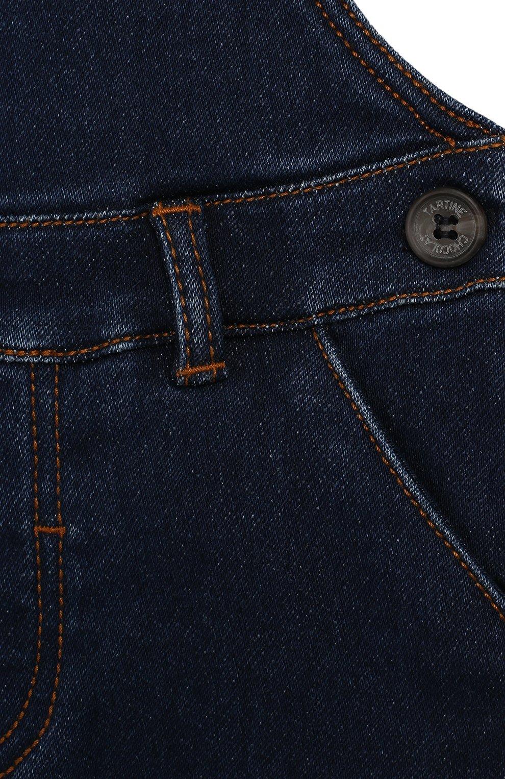 Детский хлопковый комбинезон TARTINE ET CHOCOLAT темно-синего цвета, арт. TP20031/18M-3A | Фото 3
