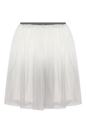 Детская юбка IL GUFO серого цвета, арт. A19GN151H4002/5A-8A | Фото 1