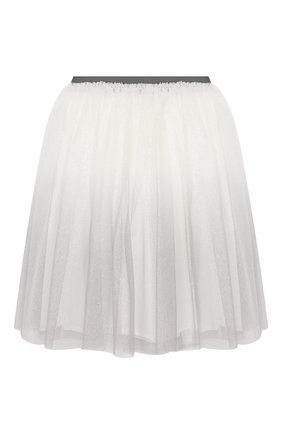 Детская юбка IL GUFO серого цвета, арт. A19GN151H4002/5A-8A | Фото 2
