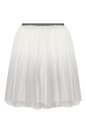 Детская юбка IL GUFO серого цвета, арт. A19GN151H4002/10A-12A | Фото 2