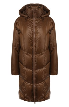 Женский пуховое пальто VINCE коричневого цвета, арт. V605991173 | Фото 1