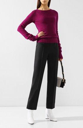 Женская шерстяной пуловер LEMAIRE бордового цвета, арт. W 193 KN415 LK085 | Фото 2
