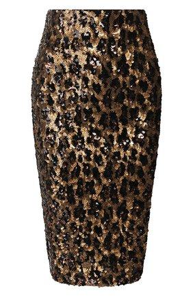 Женская юбка ALICE + OLIVIA золотого цвета, арт. CC909E33309 | Фото 1