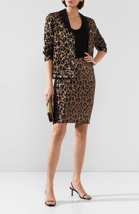 Женская юбка ALICE + OLIVIA золотого цвета, арт. CC909E33309 | Фото 2