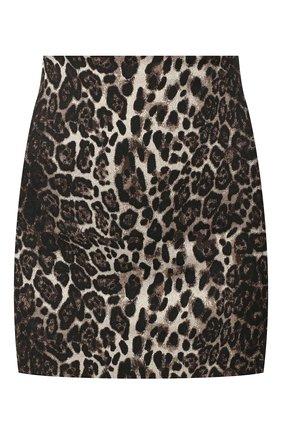 Женская юбка ALICE + OLIVIA леопардового цвета, арт. CC909R16304 | Фото 1