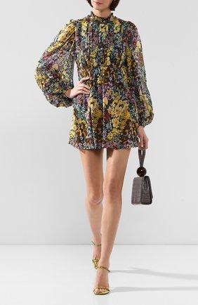 Женское шелковое платье WANDERING разноцветного цвета, арт. WGW19421 | Фото 2