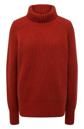 Женская шерстяной свитер AMI красного цвета, арт. H19K205.010 | Фото 1