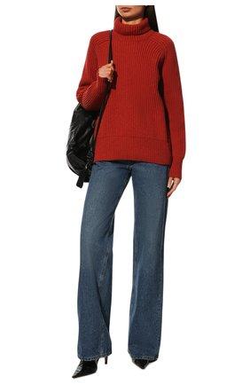 Женская шерстяной свитер AMI красного цвета, арт. H19K205.010 | Фото 2