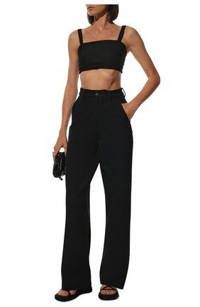 Женские брюки AMI темно-синего цвета, арт. H19FT650.237 | Фото 2