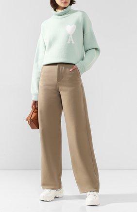 Женские брюки AMI бежевого цвета, арт. H19FT650.237 | Фото 2