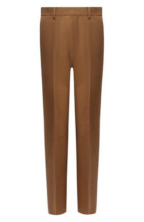 Женские шерстяные брюки AMI бежевого цвета, арт. H19FT009.242 | Фото 1