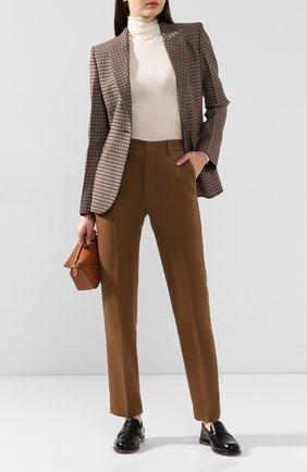 Женские шерстяные брюки AMI бежевого цвета, арт. H19FT009.242 | Фото 2