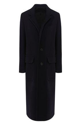 Женское шерстяное пальто AMI темно-синего цвета, арт. H19FM002.224 | Фото 1