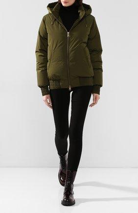 Женский пуховая куртка AMI зеленого цвета, арт. H190W200.232 | Фото 2
