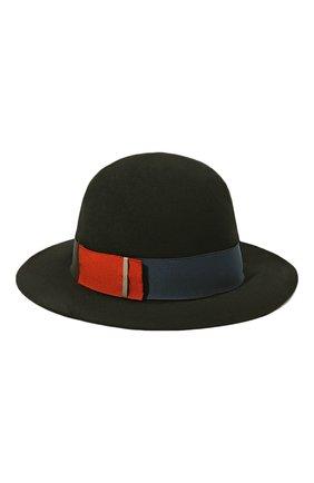 Женская фетровая шляпа BORSALINO черного цвета, арт. 213044   Фото 1