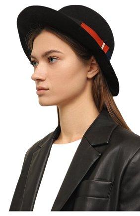 Женская фетровая шляпа BORSALINO черного цвета, арт. 213044   Фото 2