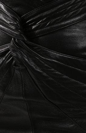Женская кожаная юбка ISABEL MARANT черного цвета, арт. JU1022-19A003I/CHAZ | Фото 5