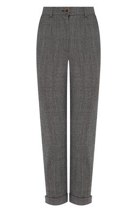 Женские шерстяные брюки DOLCE & GABBANA светло-серого цвета, арт. FTBDAT/FQBBK | Фото 1
