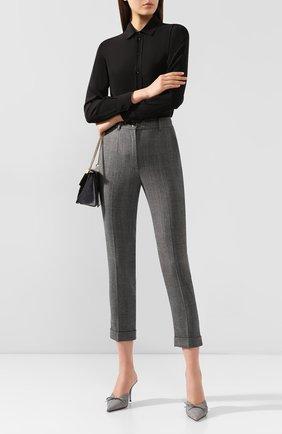 Женские шерстяные брюки DOLCE & GABBANA светло-серого цвета, арт. FTBDAT/FQBBK | Фото 2