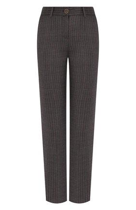 Женские шерстяные брюки DOLCE & GABBANA серого цвета, арт. FTA9TT/FRBCK | Фото 1