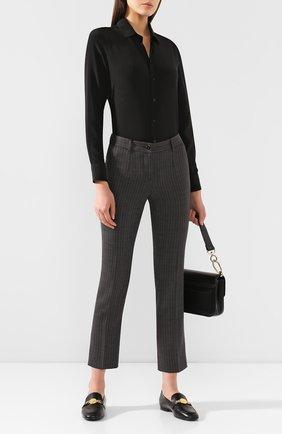 Женские шерстяные брюки DOLCE & GABBANA серого цвета, арт. FTA9TT/FRBCK | Фото 2