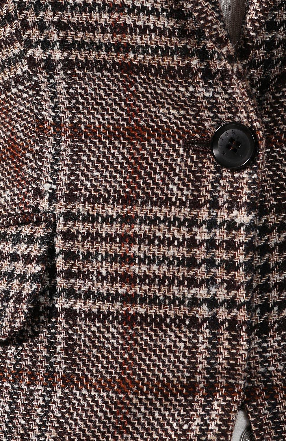 Женский жакет из смеси кашемира и шелка KITON коричневого цвета, арт. D48522K01S58   Фото 5