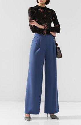 Женские шерстяные брюки REJINA PYO синего цвета, арт. E095/JAPANESE W00L   Фото 2