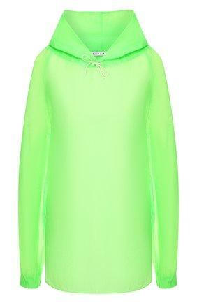 Женская блузка с капюшоном REJINA PYO зеленого цвета, арт. C246/NYL0N | Фото 1