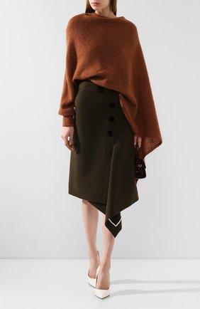 Женская свитер REJINA PYO коричневого цвета, арт. C237K/M0HAIR BLEND   Фото 2