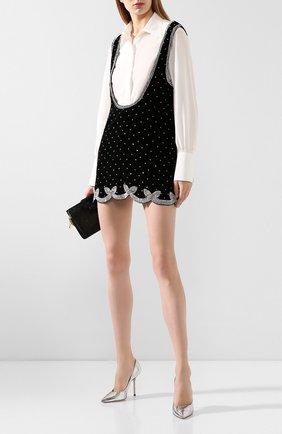 Женское бархатное платье WANDERING черного цвета, арт. WGW19214 | Фото 2