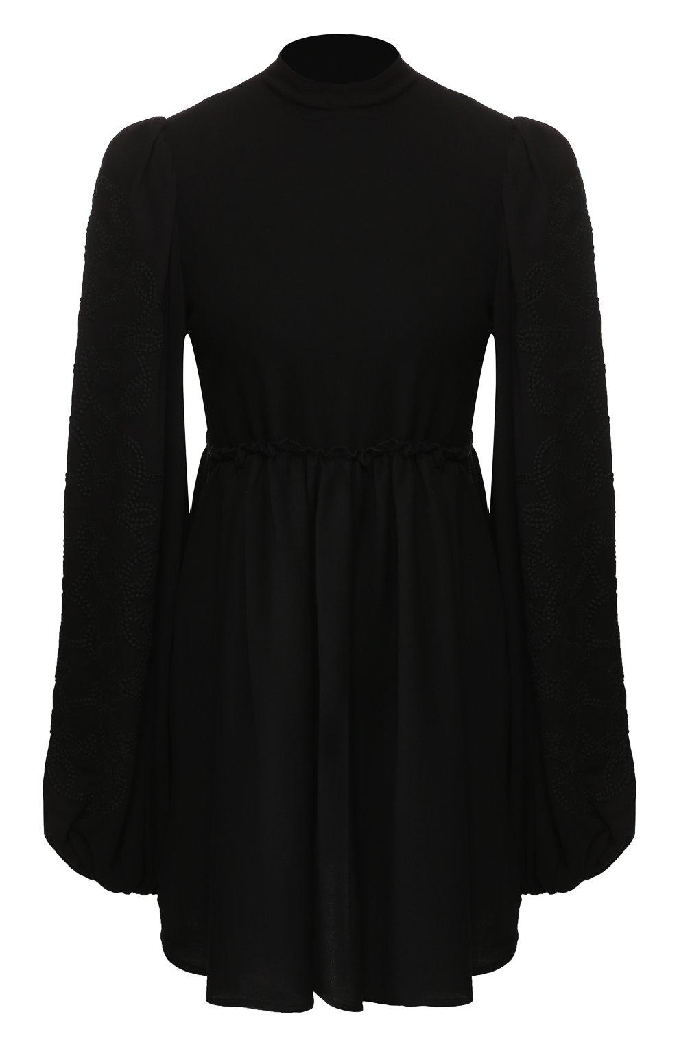 Женское платье из смеси вискозы и шерсти WANDERING черного цвета, арт. WGW19411 | Фото 1