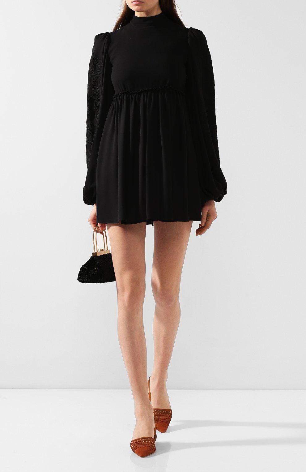Женское платье из смеси вискозы и шерсти WANDERING черного цвета, арт. WGW19411 | Фото 2