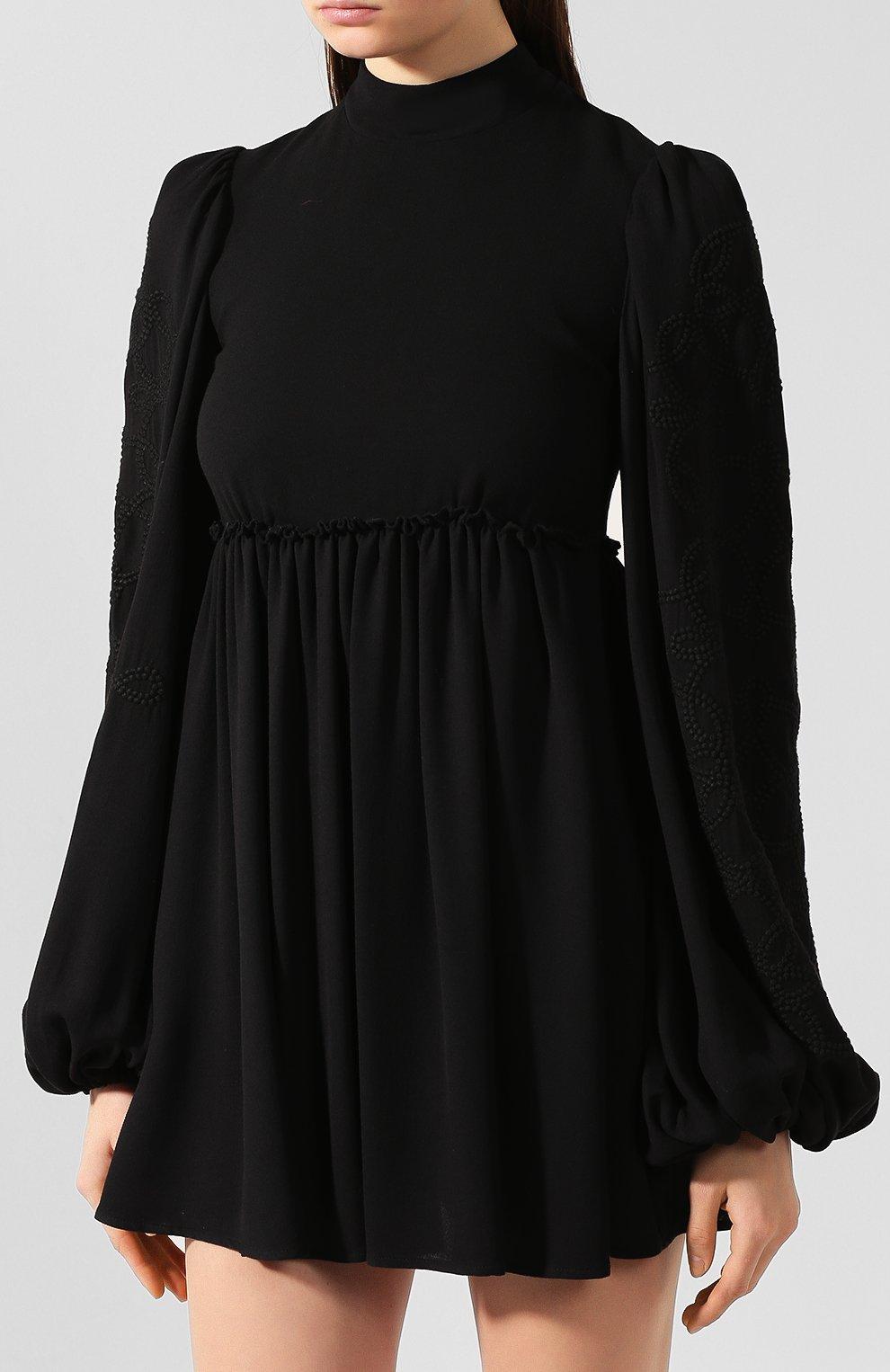 Женское платье из смеси вискозы и шерсти WANDERING черного цвета, арт. WGW19411 | Фото 3