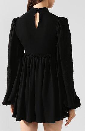Женское платье из смеси вискозы и шерсти WANDERING черного цвета, арт. WGW19411 | Фото 4