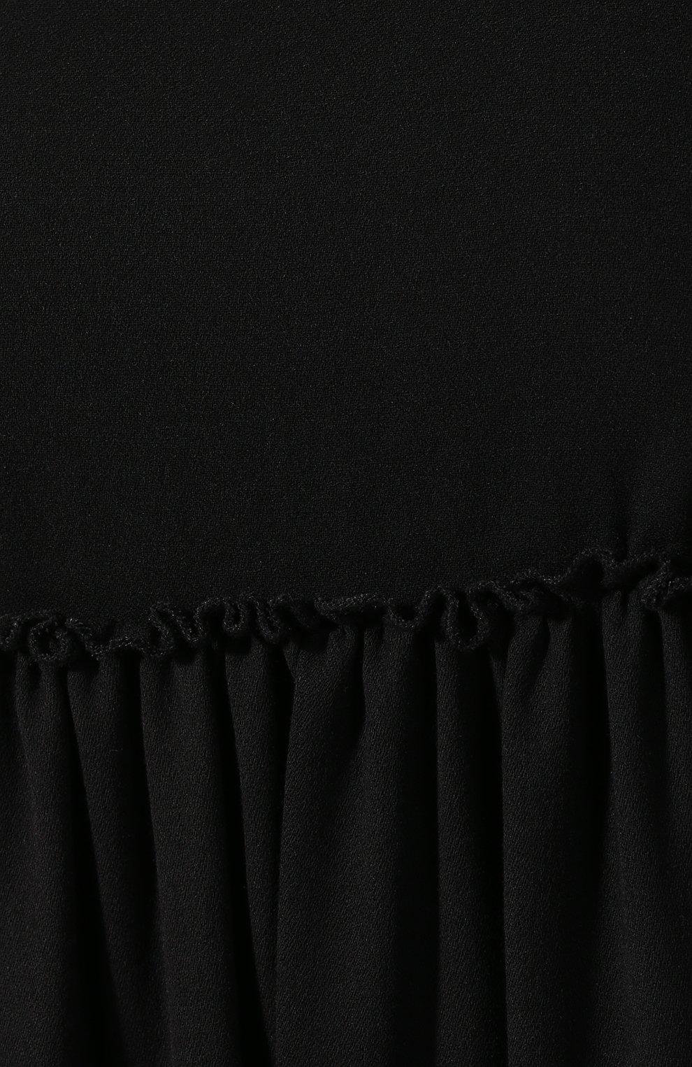 Женское платье из смеси вискозы и шерсти WANDERING черного цвета, арт. WGW19411 | Фото 5