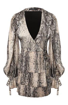 Женское платье с принтом WANDERING серого цвета, арт. WGW19413 | Фото 1