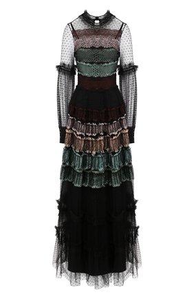 Женское платье-макси WANDERING черного цвета, арт. WGW19509 | Фото 1