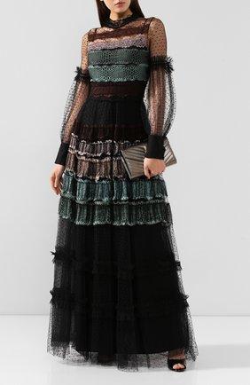 Женское платье-макси WANDERING черного цвета, арт. WGW19509 | Фото 2