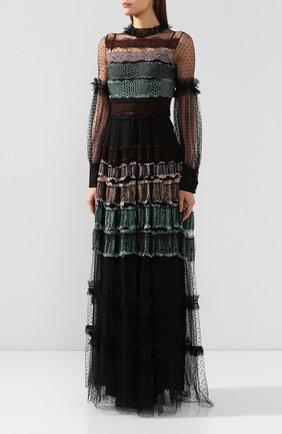 Женское платье-макси WANDERING черного цвета, арт. WGW19509 | Фото 3