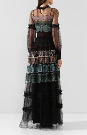 Женское платье-макси WANDERING черного цвета, арт. WGW19509 | Фото 4