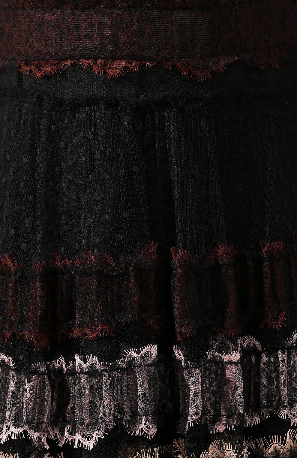 Женское платье-макси WANDERING черного цвета, арт. WGW19509 | Фото 5
