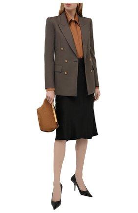 Женская юбка VINCE черного цвета, арт. VR68530354 | Фото 2
