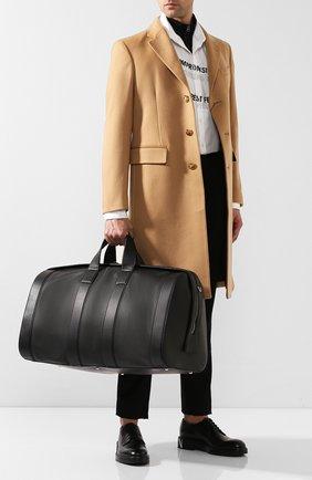 Мужская кожаная дорожная сумка BOTTEGA VENETA черного цвета, арт. 573486/VMAW2 | Фото 2
